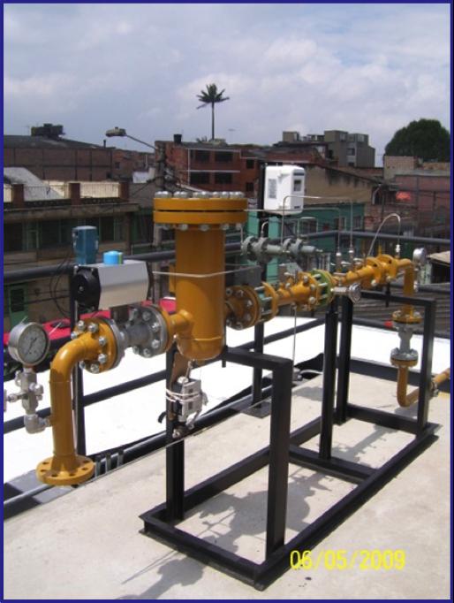 Diseño y Construcción de E.R.M para gas Natural Vehicular EDS / Tanalli/ Bogota